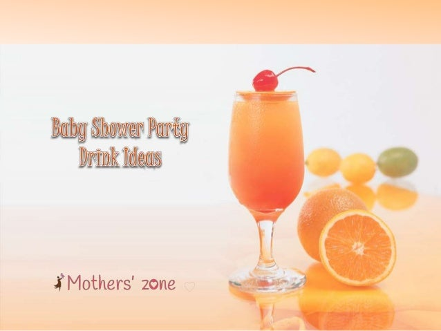 Baby Shower Drinks And Food ~ Drinks for baby shower party