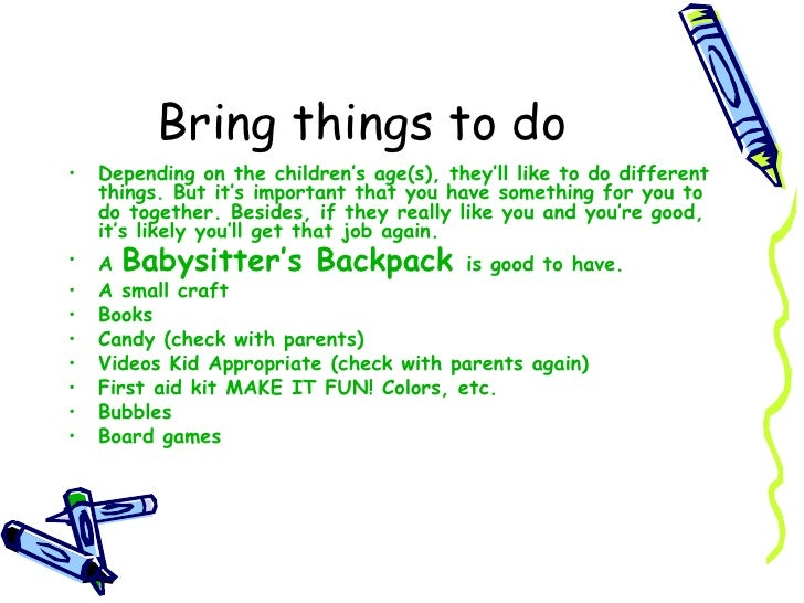 6 bring things to do