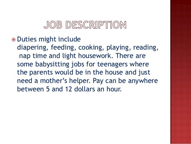 babysitter job description