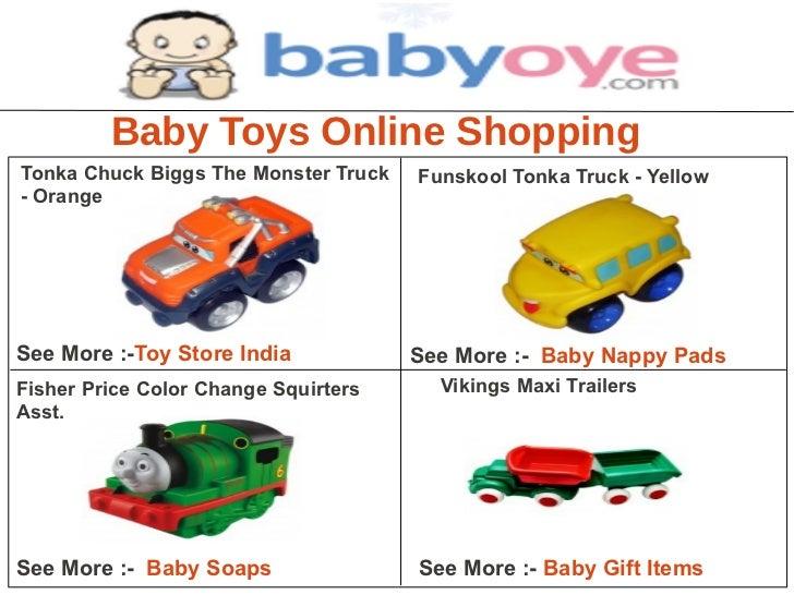 Baby Toys Online ShoppingTonka Chuck Biggs The Monster Truck   Funskool Tonka Truck - Yellow- OrangeSee More :-Toy Store I...
