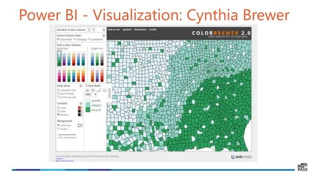 Power BI - Visualization: Cynthia Brewer
