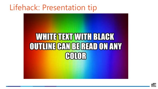 Lifehack: Presentation tip