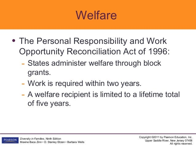 an overview of the personal responsibility and work opportunity reconciliation act of 1996 Amendment by section 5302(c)(3) of pub l 105–33 effective, except as otherwise provided, as if included in the enactment of title iv of the personal responsibility and work opportunity reconciliation act of 1996, pub l 104–193, see section 5308 of pub l 105–33, set out as a note under section 1612 of this title.