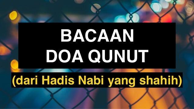 Doa Qunut Pdf