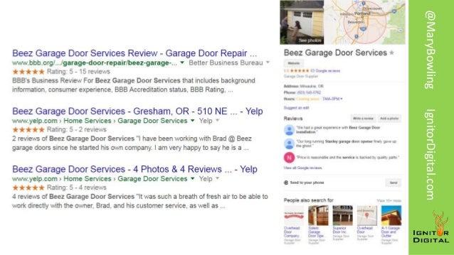 Beez Garage Door Services . @MaryBowlingIgnitorDigital.com; 41.