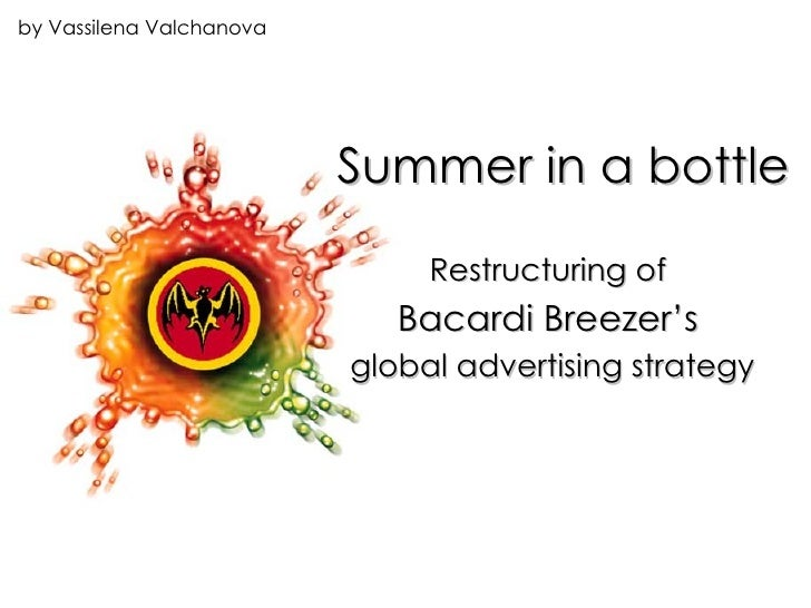 Summer in a bottle Restructuring of  Bacardi Breezer's   global advertising strategy by Vassilena Valchanova