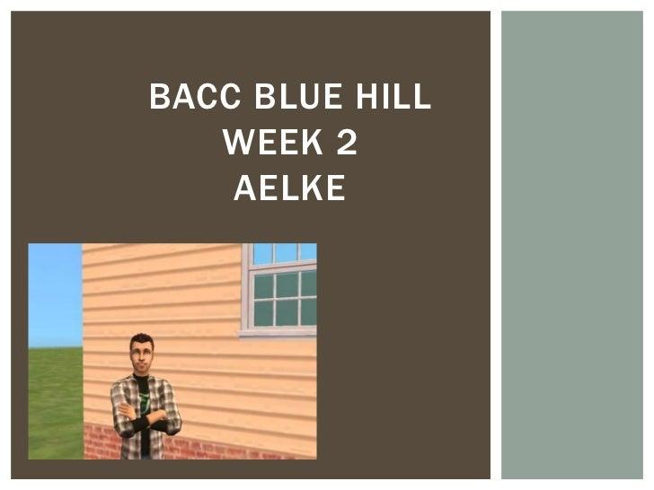BACC BLUE HILL   WEEK 2    AELKE