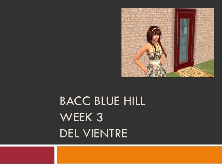 BACC BLUE HILLWEEK 3DEL VIENTRE