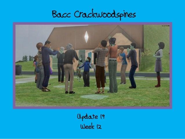 Bacc CrackwoodspinesWeek 12Update 19DE TEKST IS JUIST TOT EN MET DIA 7.