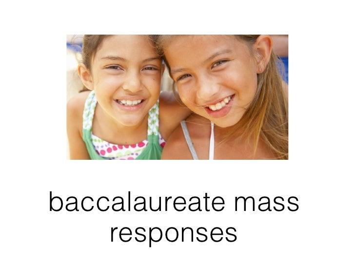 baccalaureate mass    responses