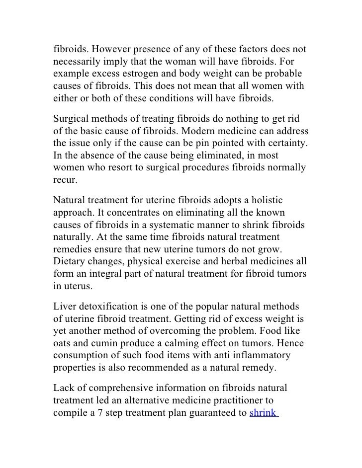 Natural Methods To Get Rid Of Fibroids