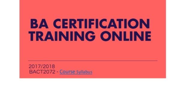 Ba certification training online