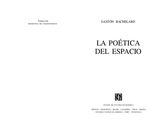 Bachelard gaston   la poetica del espacio