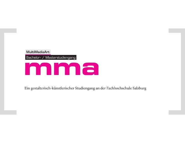 Bachelor Multimediaart an der Fachhochschule Salzburg
