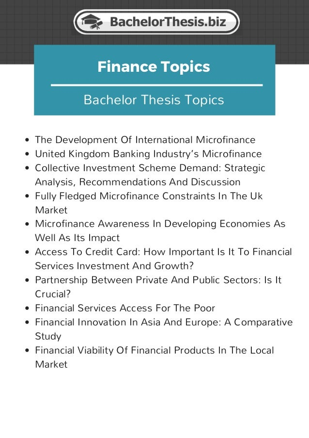Dissertation topics in finance