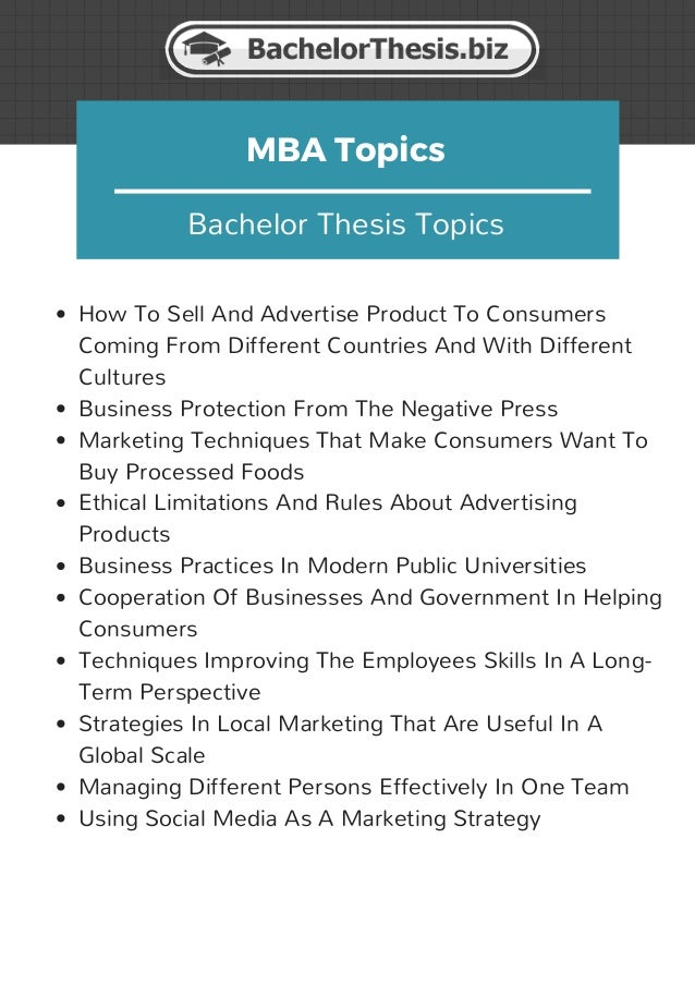 mba dissertation topics in international business