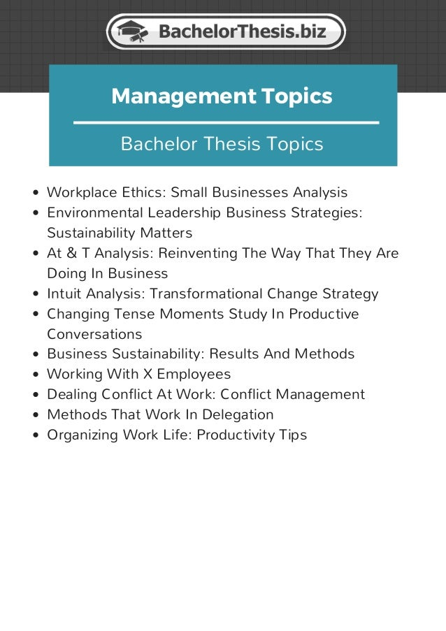 project management master thesis topics