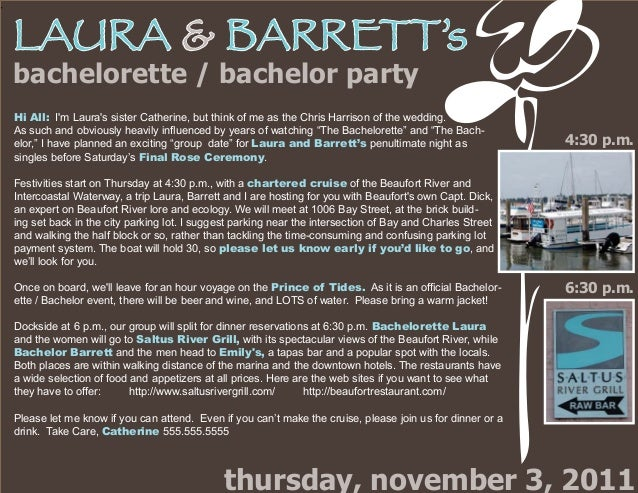 LAURA BARRETTs Bachelorette Bachelor Party Thursday November 3 2011 4