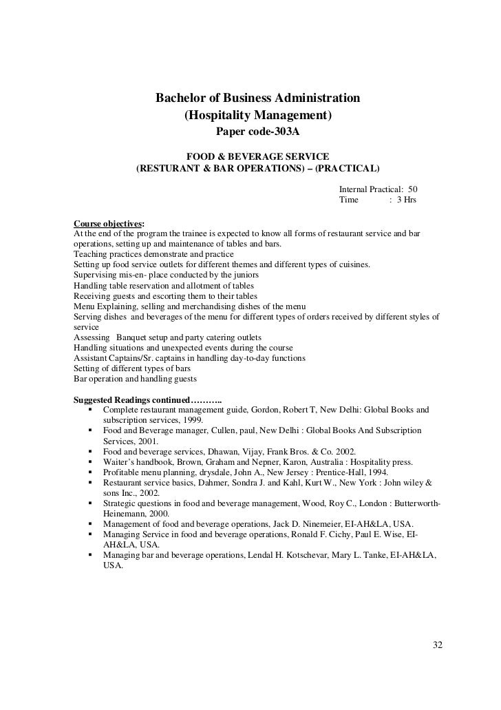 Food and beverage service training manual sudhir andrews