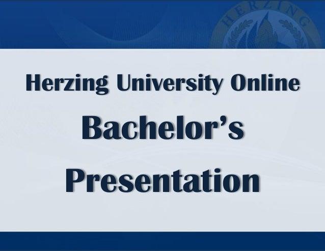 Herzing University Online  Bachelor's Presentation