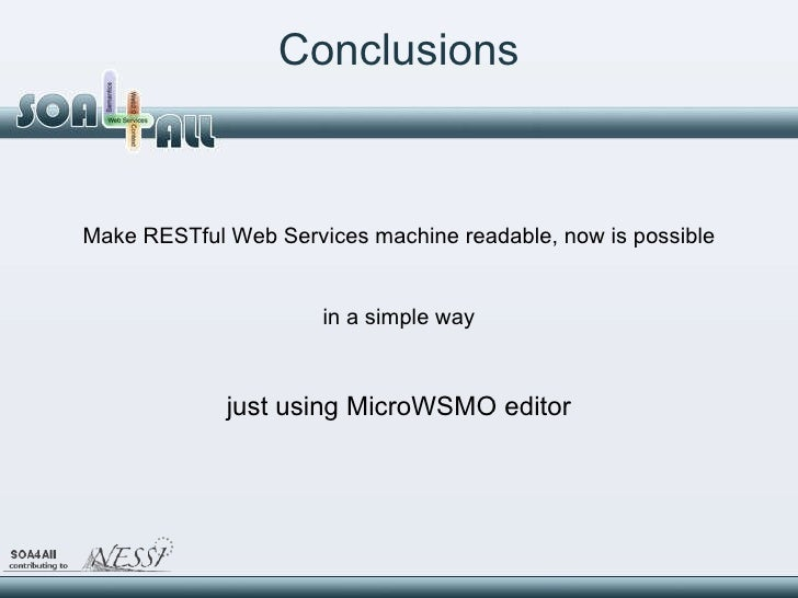 Restful web service thesis