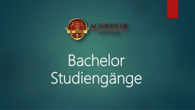 Bachelor Studiengänge