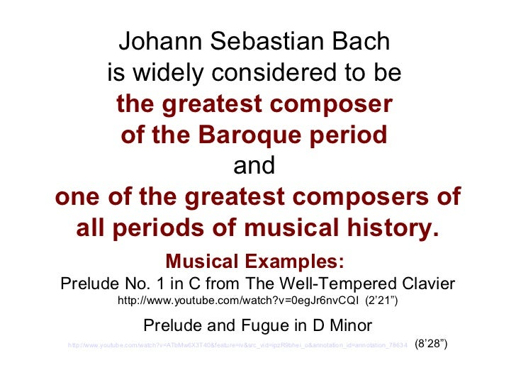 bachs well tempered clavier an annotated biography The well-tempered clavier, book 1 by johann sebastian bach (excerpt) the c major prelude from the first book of the wtc allegro moderato from piano sonata no 10 in c major by wolfgang ama- glenn gould bach: original cbc broadcasts (booklet.