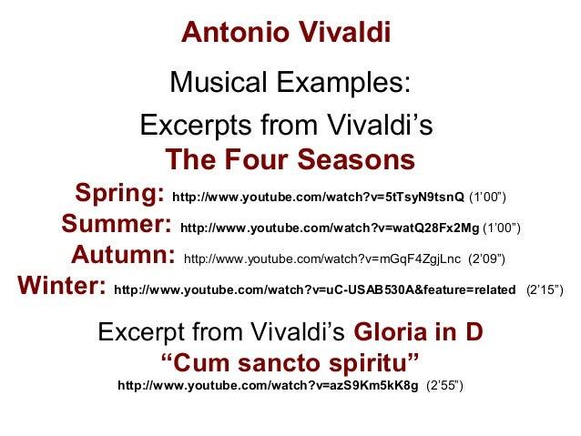 Antonio Vivaldi's Four seasons; music review