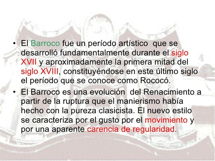 Bachiller Arte  Barroco Generalidades Slide 2