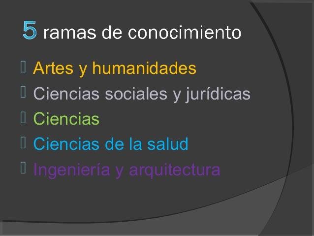 Bachillerato y Ramas conocimiento 2014 2015 Slide 2