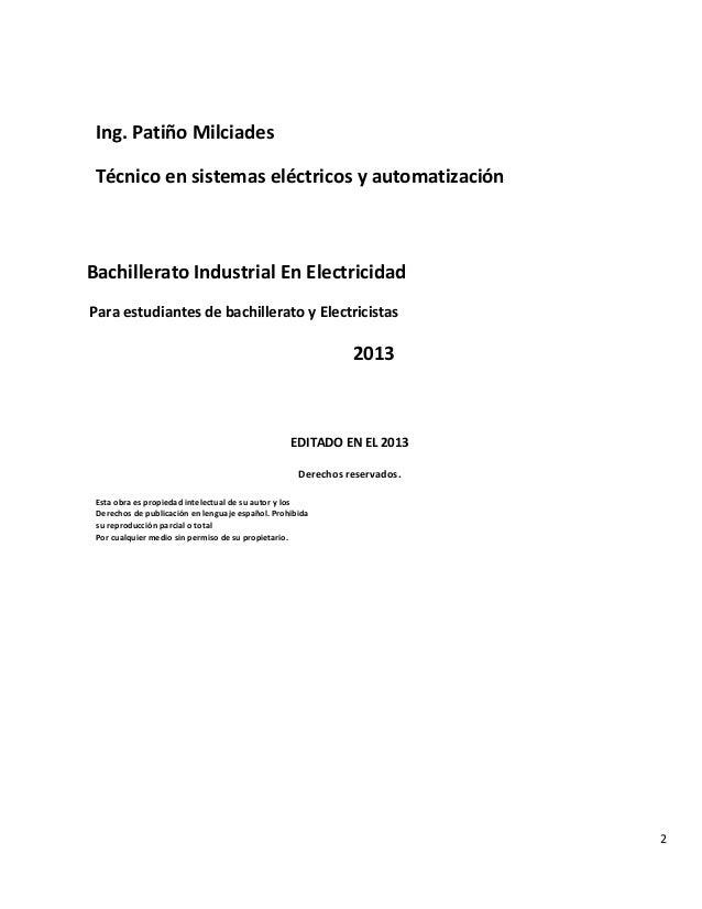 Bachiller industrial en electricidad Slide 2