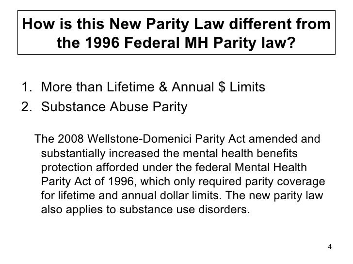 Understanding the New Federal Parity Law
