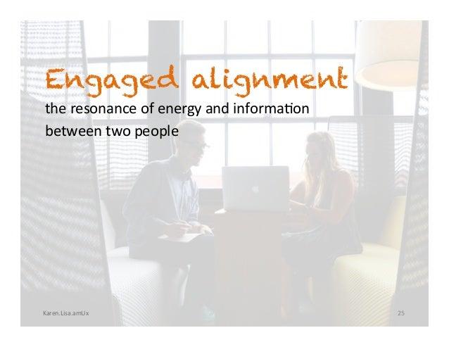 Karen.Lisa.amUx Engaged alignment theresonanceofenergyandinforma?on betweentwopeople 25