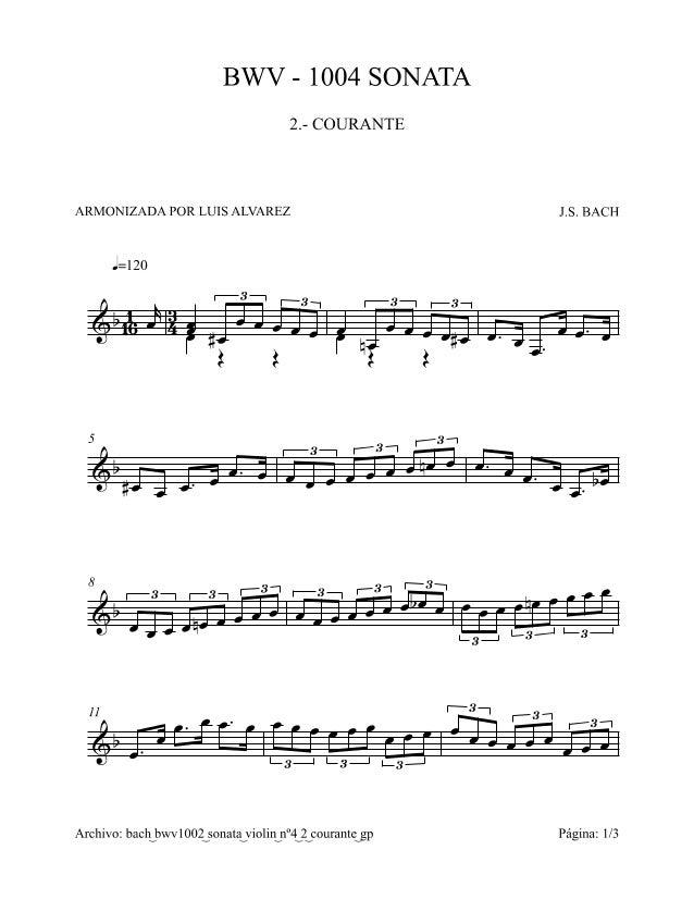 Bach n.2   courante