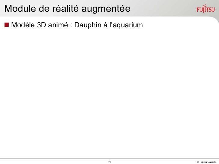Module de réalité augmentée <ul><li>Modèle 3D animé : Dauphin à l'aquarium </li></ul>