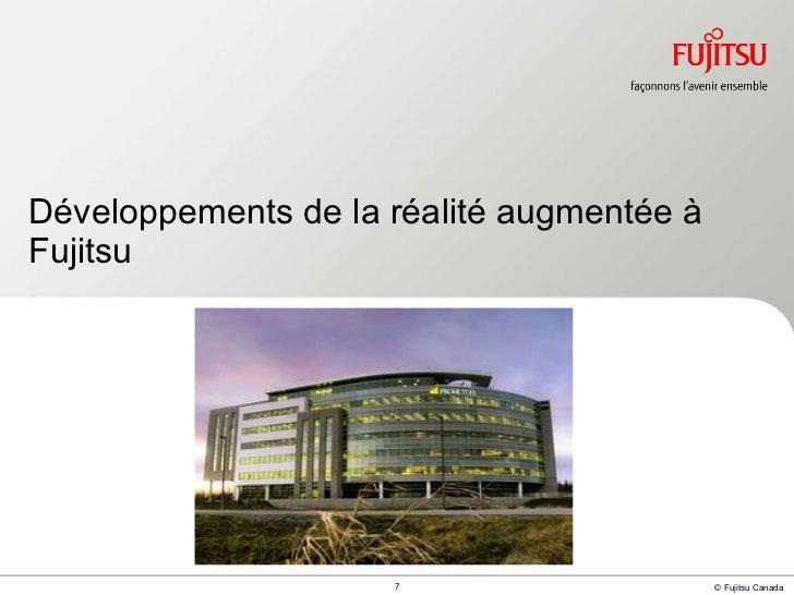 Développements de la réalité augmentée à Fujitsu