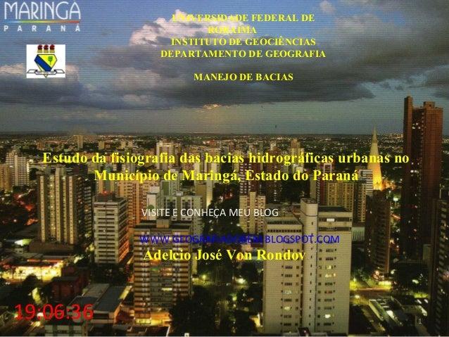 UNIVERSIDADE FEDERAL DE                            RORAIMA                     INSTITUTO DE GEOCIÊNCIAS                   ...