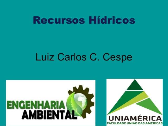 Recursos Hídricos Luiz Carlos C. Cespe