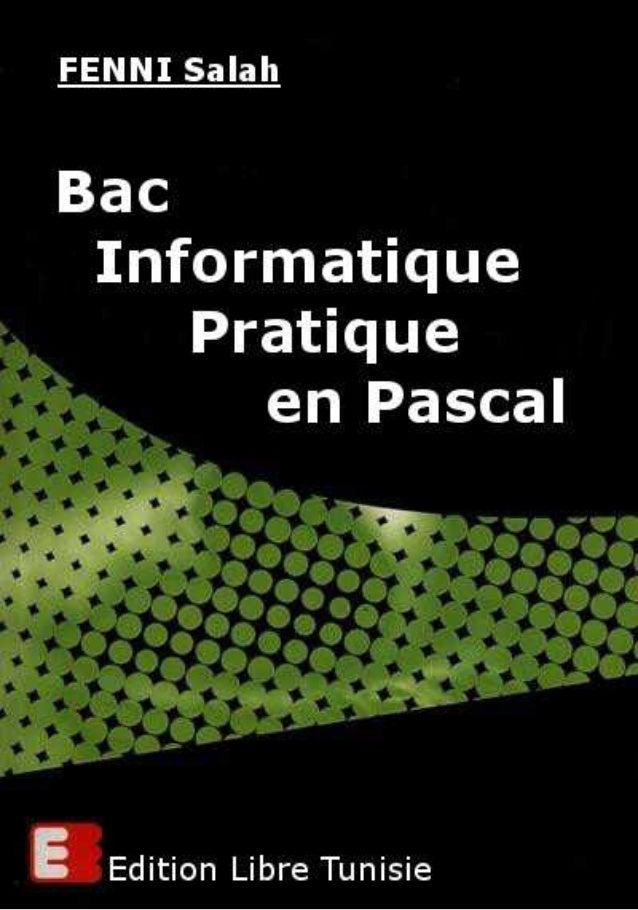 Bac Informatique Pratique 2000 FENNI Salah Sujet Soit la somme : Écrire un programme qui saisit un entier naturel n tel qu...