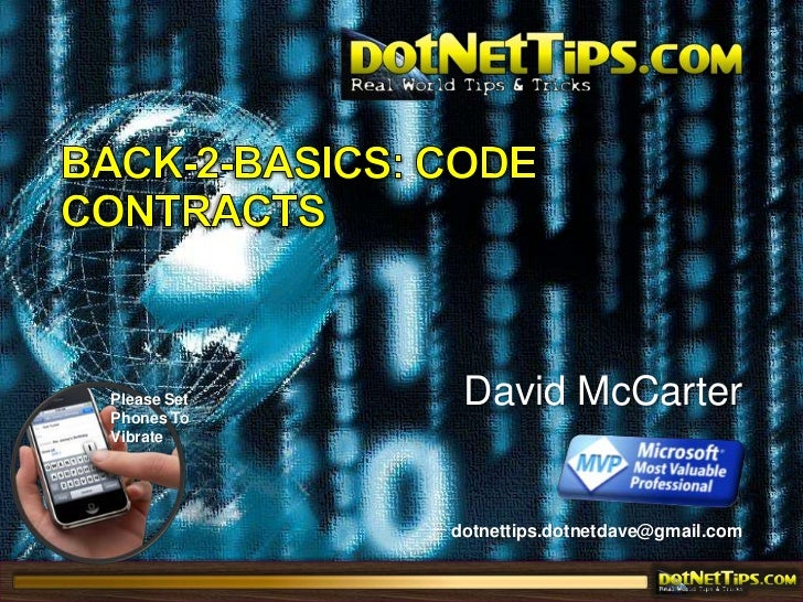 Back-2-Basics: Code Contracts<br />