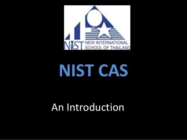 NIST CAS An Introduction