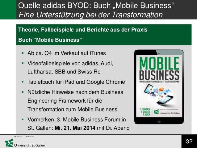 """32 Research Gap Theorie, Fallbeispiele und Berichte aus der Praxis Buch """"Mobile Business"""" Quelle adidas BYOD: Buch """"Mobile..."""