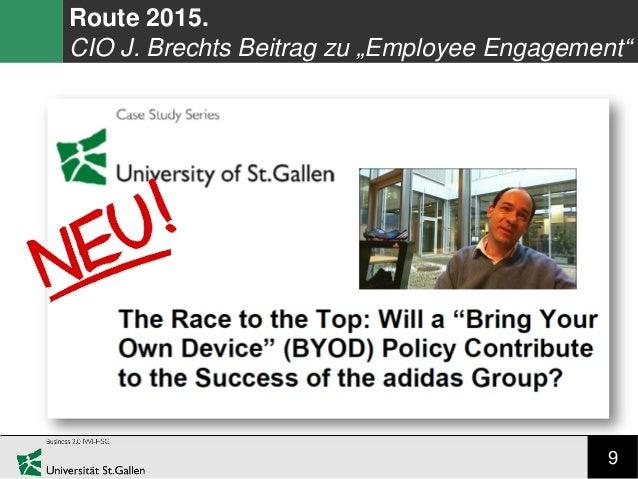 """9 Route 2015. CIO J. Brechts Beitrag zu """"Employee Engagement"""""""