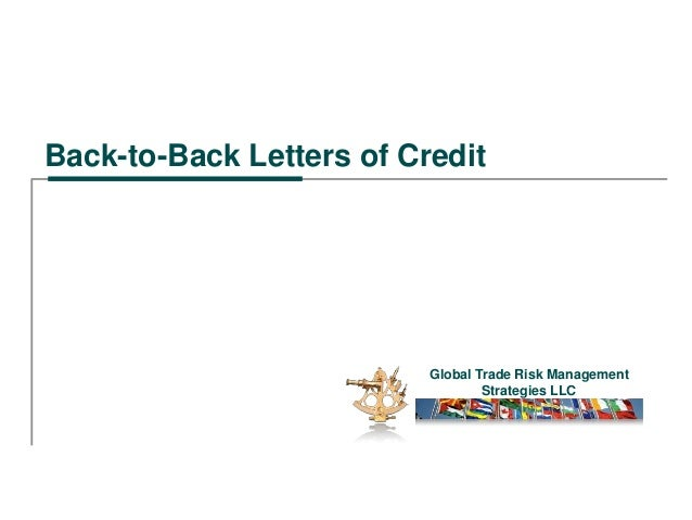 Back To Back Letters Of Credit