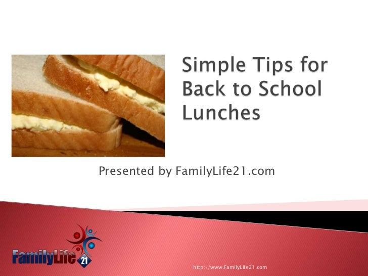 School Lunch Made Easy: Simple Tips To Make The Lunchtime