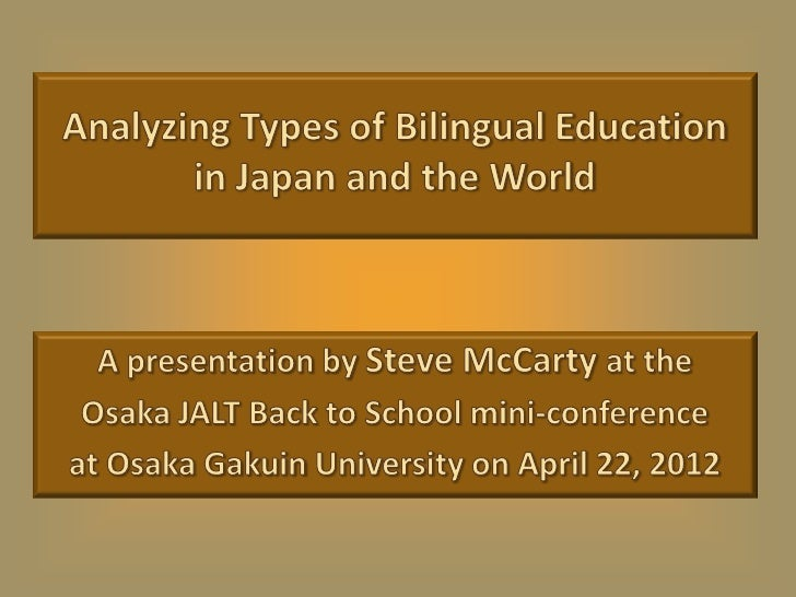 Classes with students of           different native languages Native                                  NativeJapanese      ...