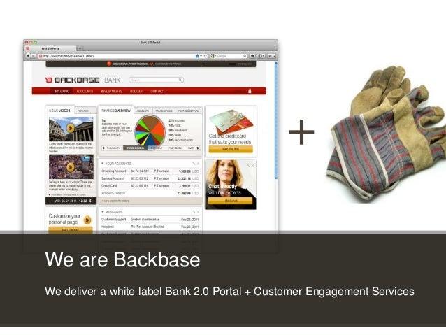 Customer Experience Solutions. Delivered. 23 + We are Backbase We deliver a white label Bank 2.0 Portal + Customer Engagem...