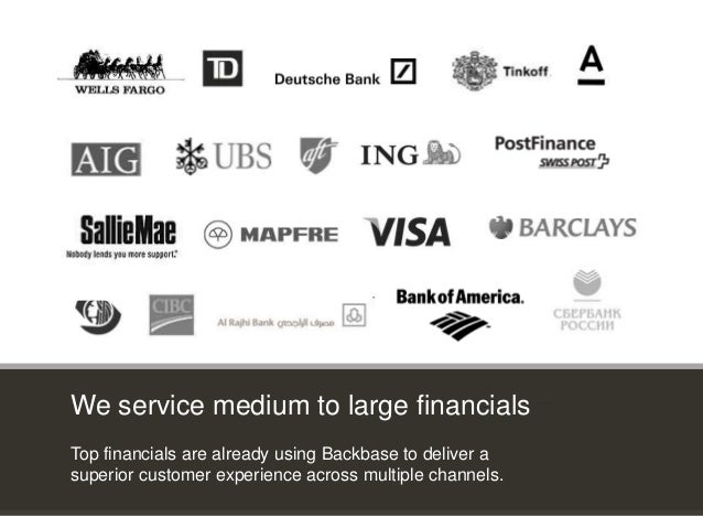 Customer Experience Solutions. Delivered. 25 3rd party apps * 3rd party apps * We service medium to large financials Top f...