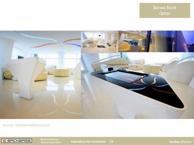Barwa BankQatarInspiration For Innovation 22Bank 2.0 WebinarSeries 23 April 2013 bradley @leimerSource: thefinancialbrand....