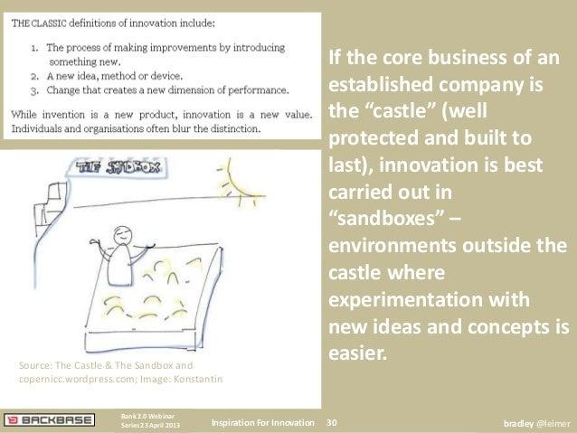 Source: The Castle & The Sandbox andcopernicc.wordpress.com; Image: KonstantinInspiration For Innovation 30Bank 2.0 Webina...